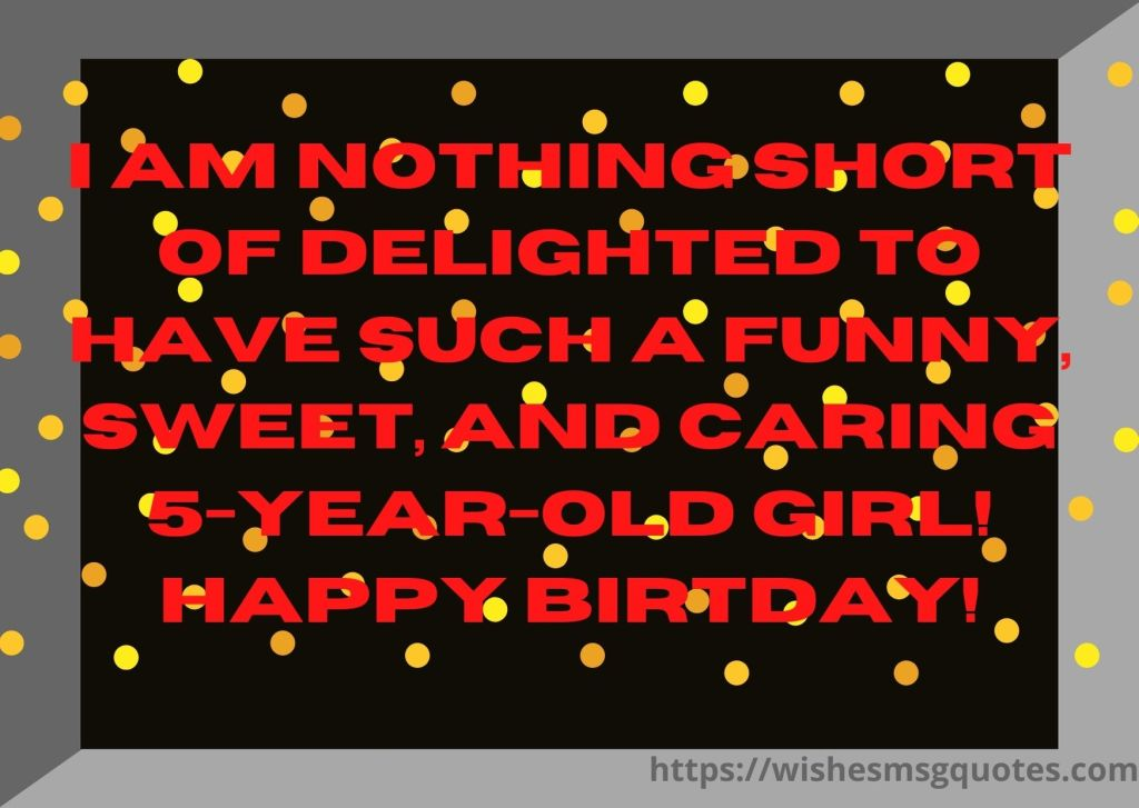 Cutest 5th Birthday Quotes For Girl From Mother