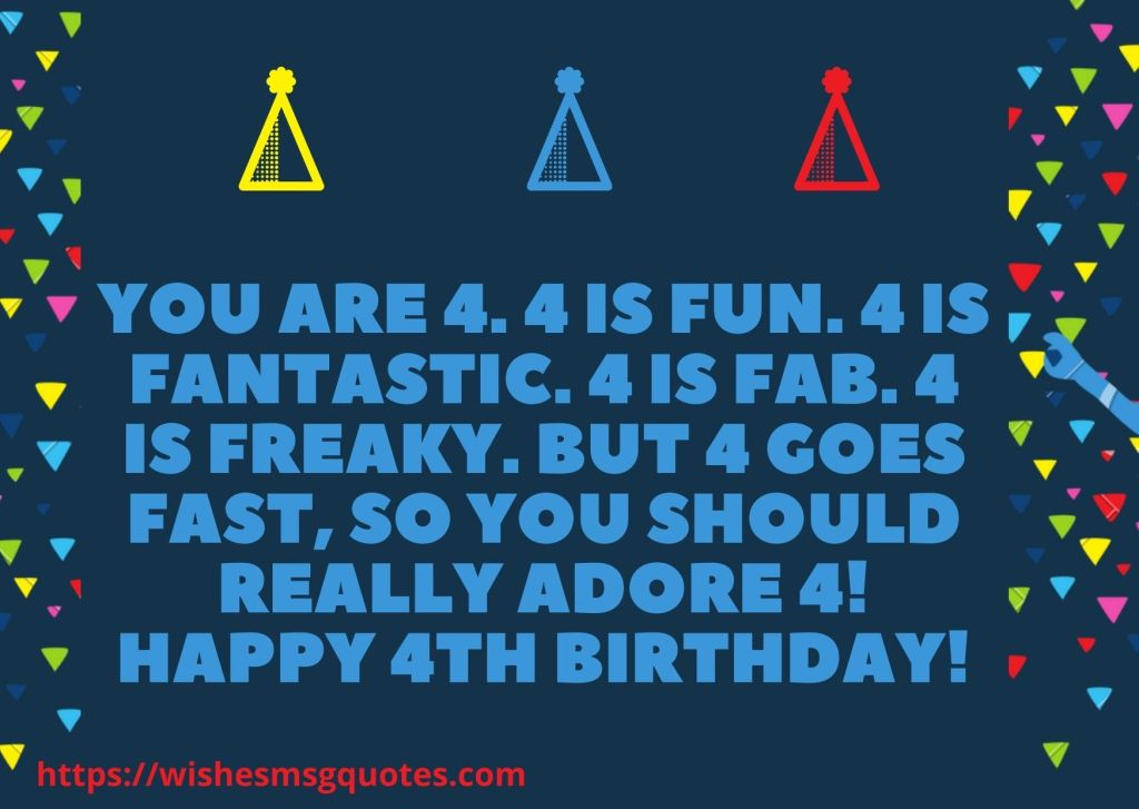 4th Birthday Messages For 4 Year Baby Boy