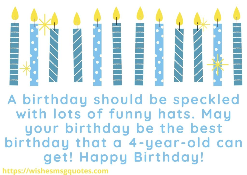 Cutest 4th Birthday Quotes For Baby Girl From Mother