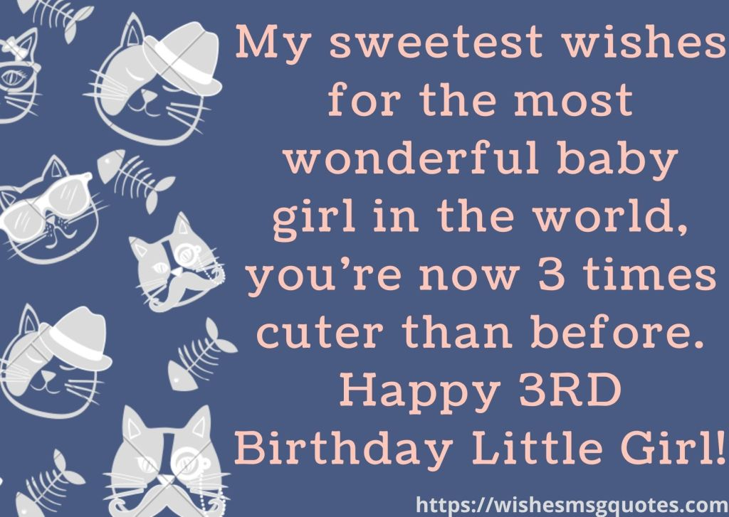 Happy 3rd Birthday Quotes For Baby Girl
