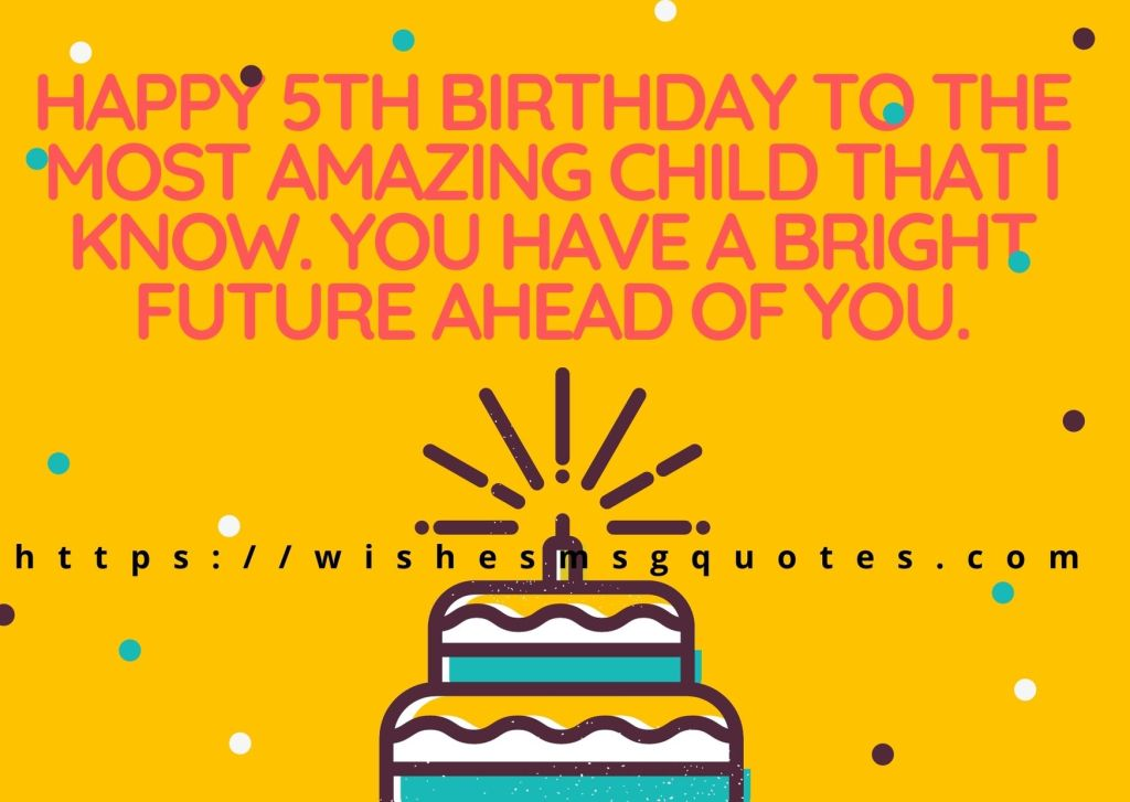 Cutest 5th Birthday Messages For Boy From Father