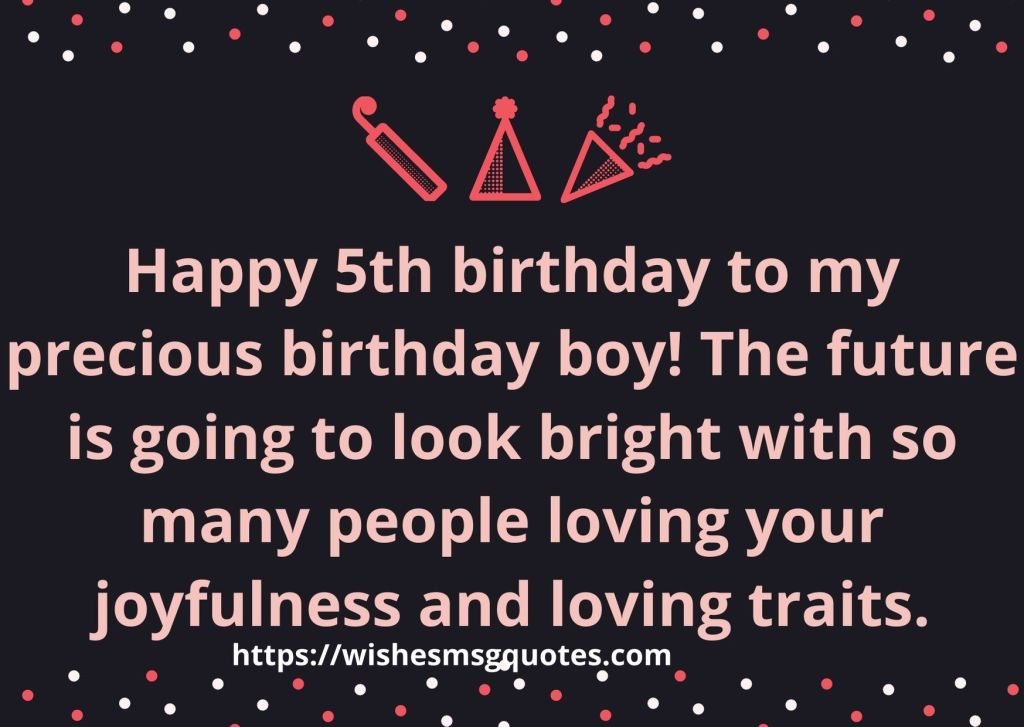 Cutest 5th Birthday Messages For Boy From Mother