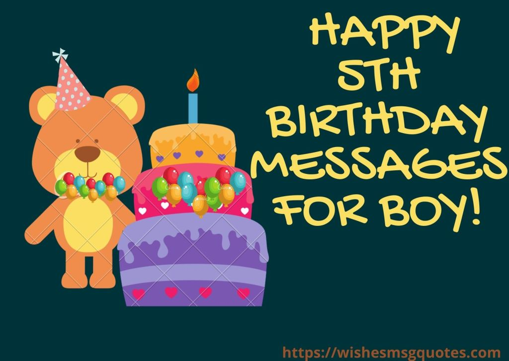 Happy 5th Birthday Messages For Boy