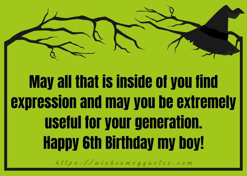 Cutest 6th Birthday Wishes For Boy From Mother