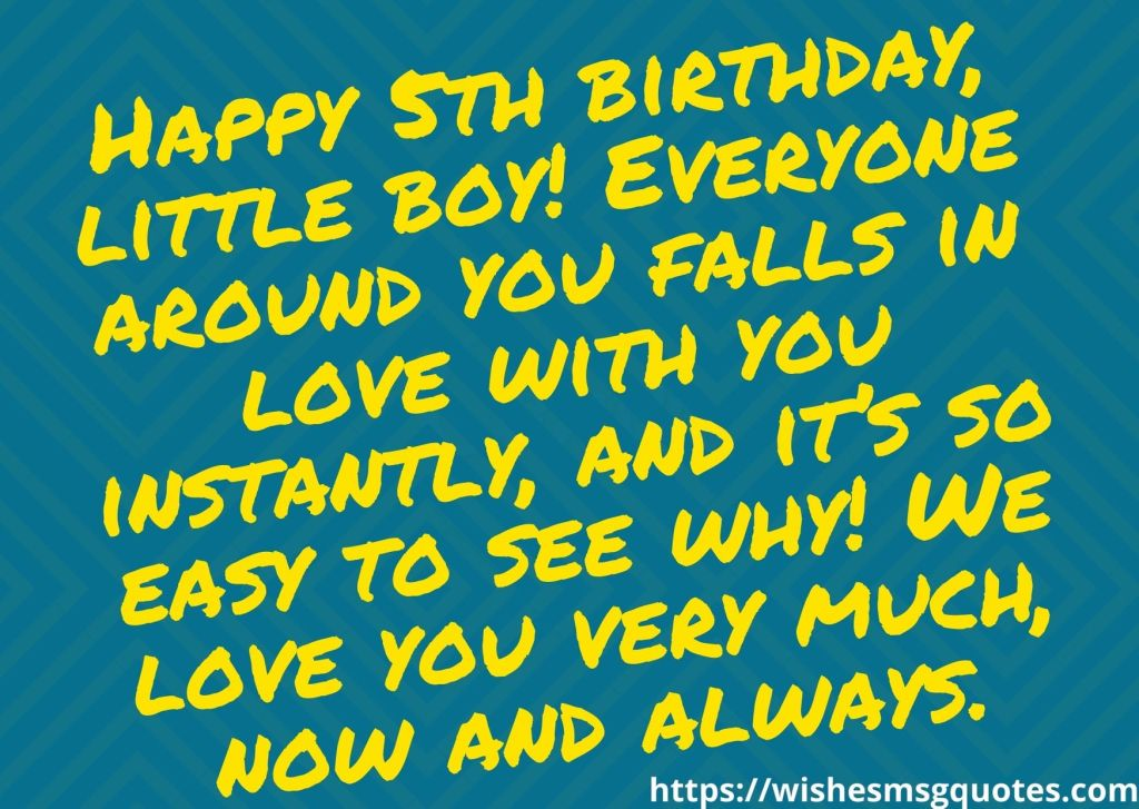 Happy 5th Birthday Messages From Parents