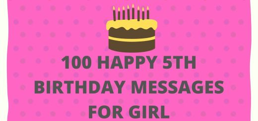 100 Happy 5th Birthday Messages For Girl