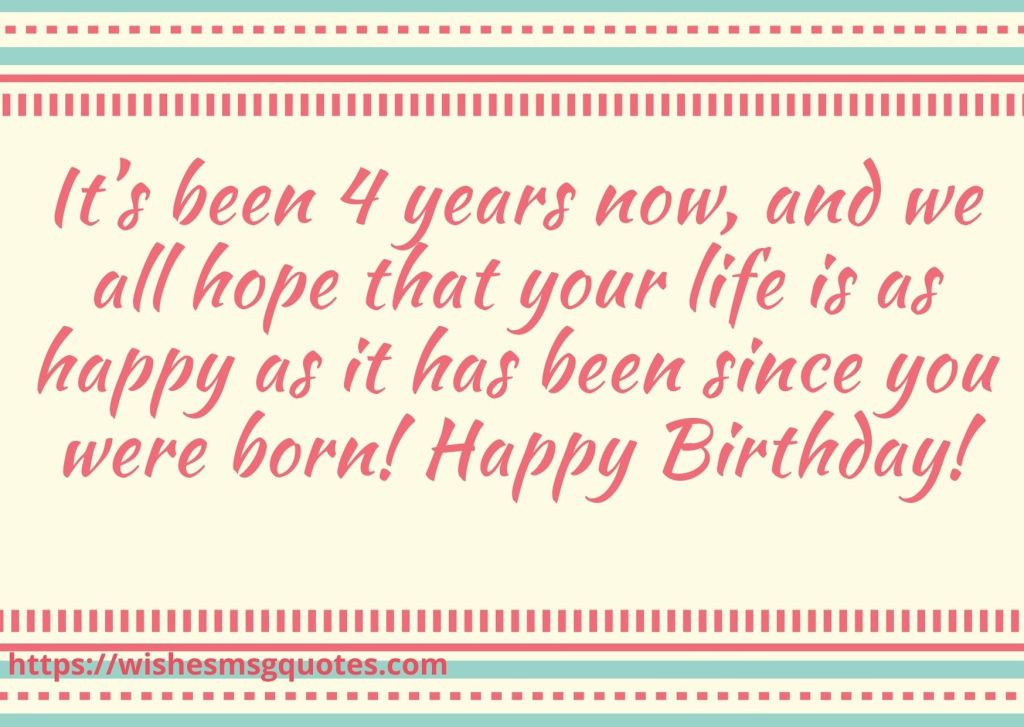 Birthday Messages For Baby Girl 4th Birthday