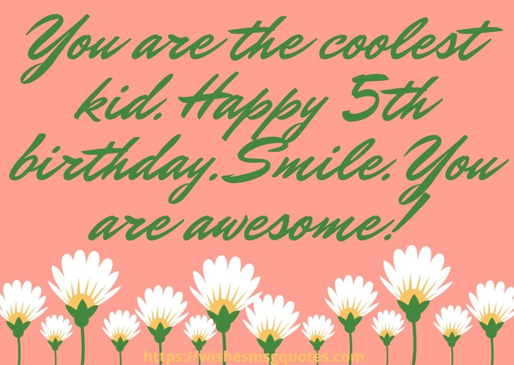 5th Birthday Wishes For 5 Year Girl