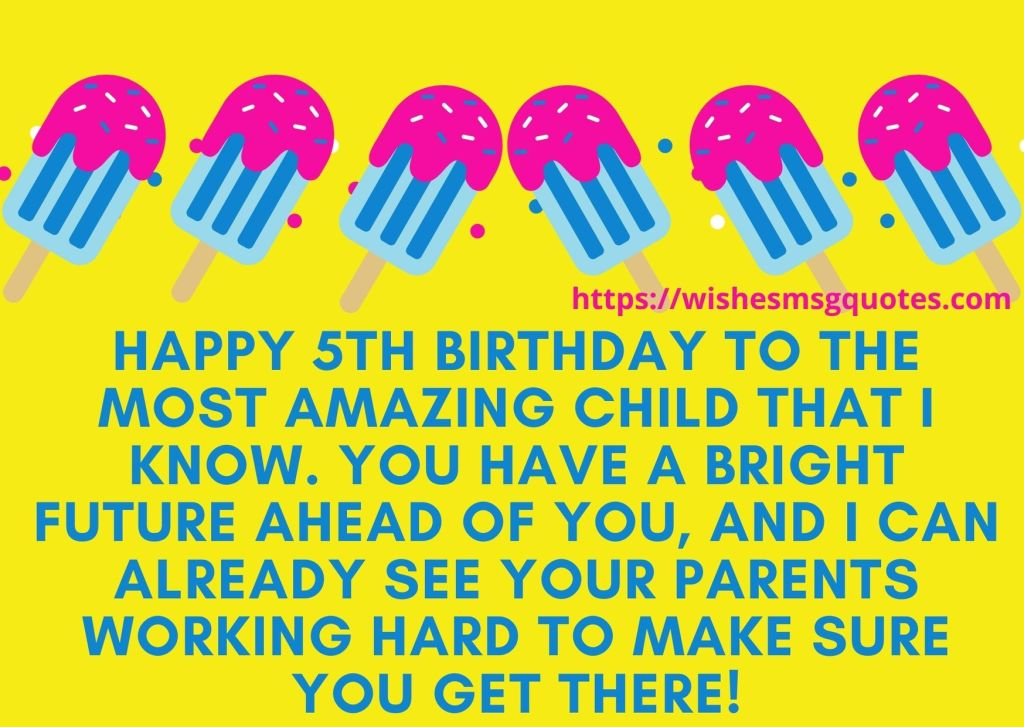 Happy 5th Birthday Wishes For Granddaughter
