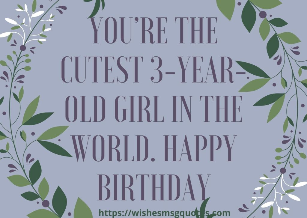 3rd Birthday Quotes From Grandmother To Baby Girl