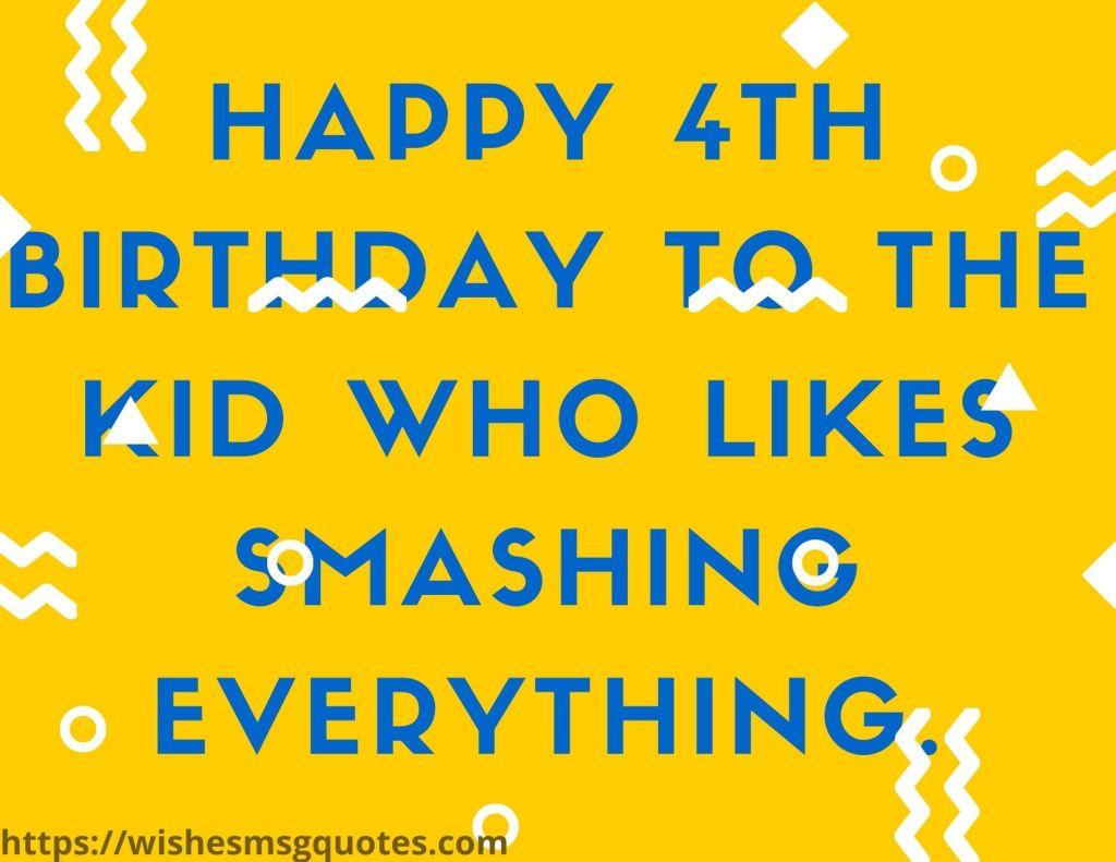 Birthday Quotes For Baby Boy 4th Birthday