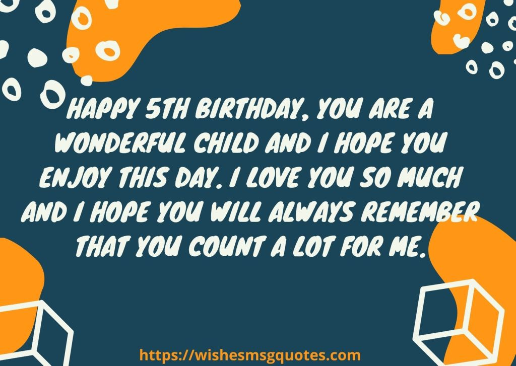 Birthday Quotes For Boy 5th Birthday