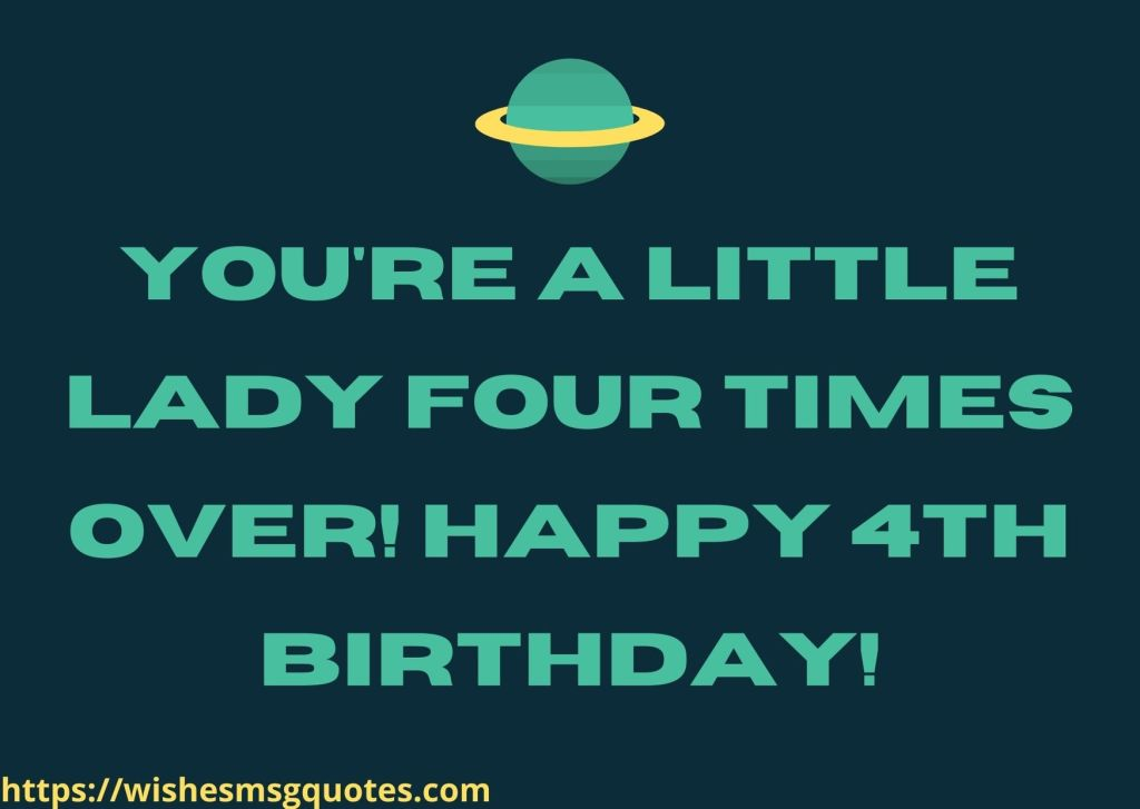 4th Birthday Quotes For 4 Year Baby Girl