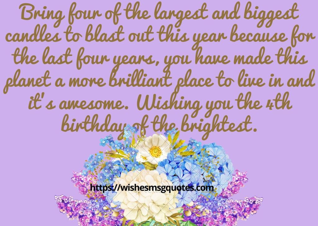 4th Birthday Quotes From Mother To Baby Girl