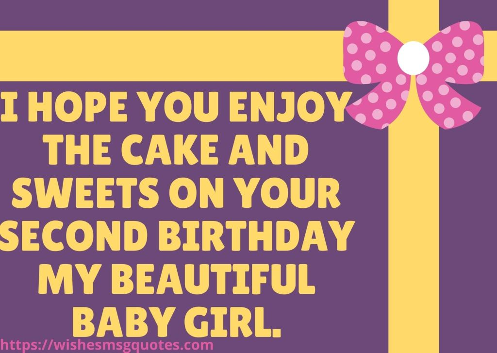 2nd Birthday Quotes From Uncle To Baby Girl