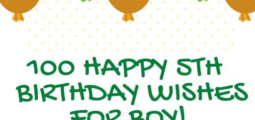 Happy 5th Birthday Wishes For Boy