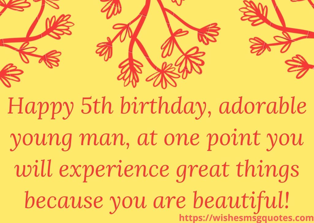 5th Birthday Quotes For 5 Year Boy