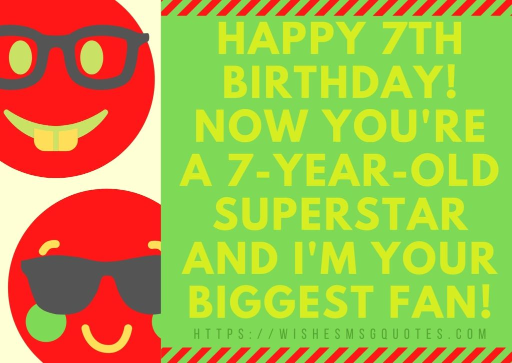7th Birthday Quotes From Mother To Boy