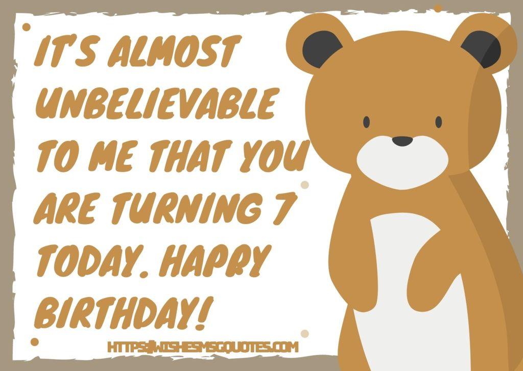 7th Birthday Wishes For 7 Year Boy