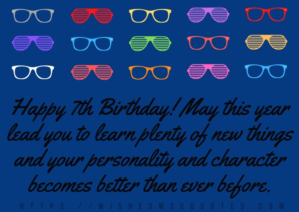 7th Birthday Messages From Friend To Boy