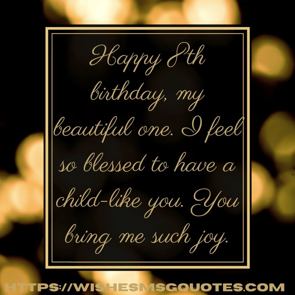 Birthday Messages For Boy 8th Birthday