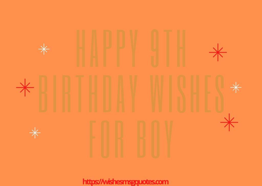 Happy 9th Birthday Wishes For Boy