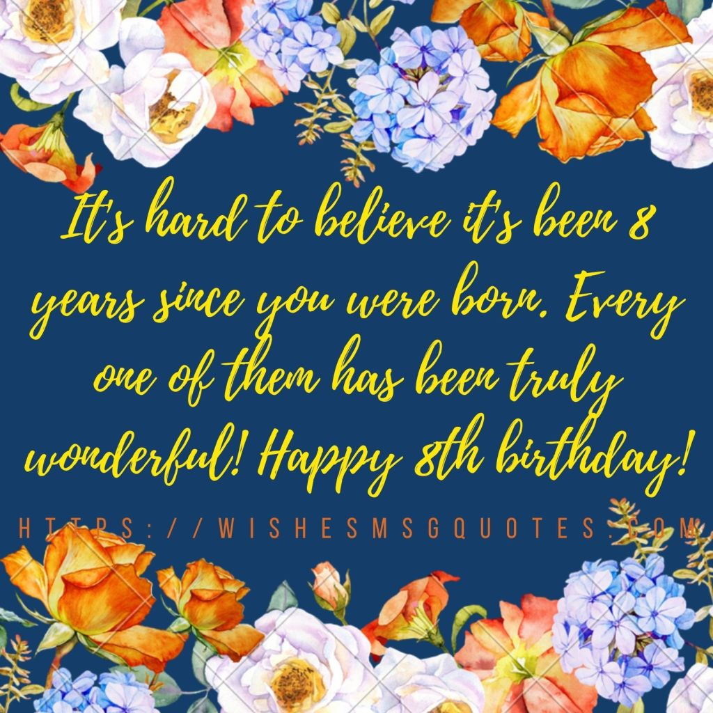 Happy 8th Birthday Quotes For Granddaughter