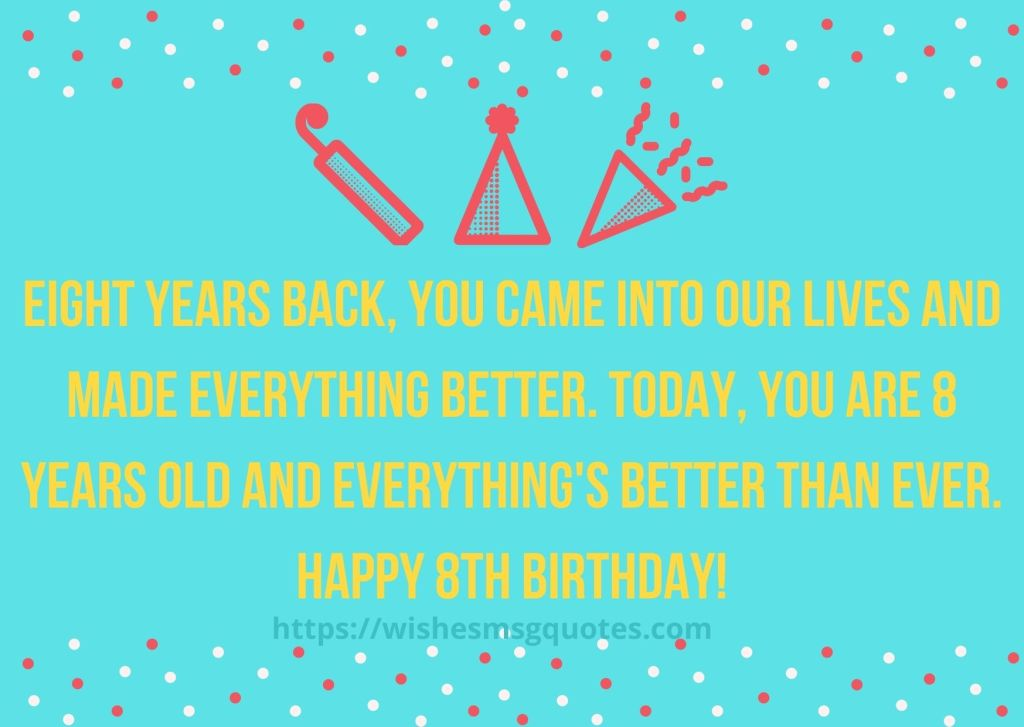 8th Birthday Quotes From Friend To Girl