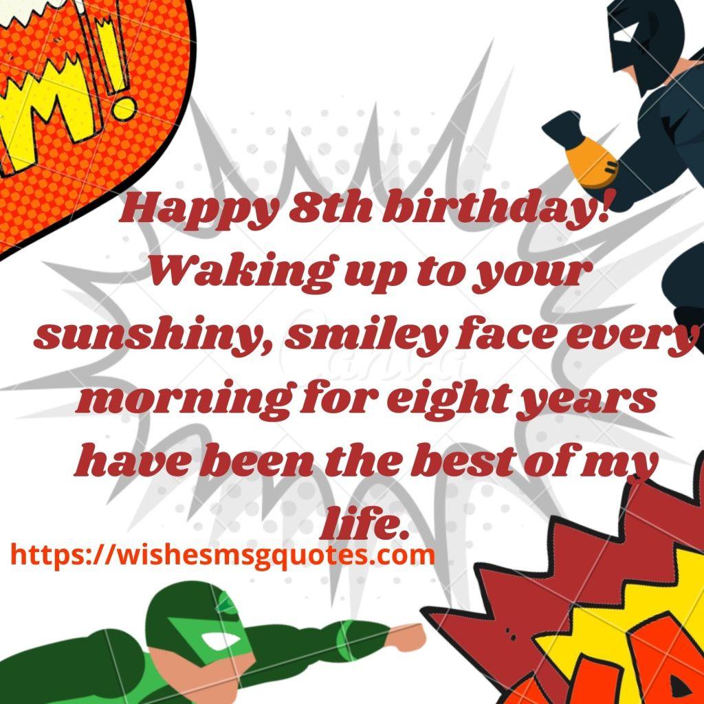 8th Birthday Wishes For 8 Year Boy
