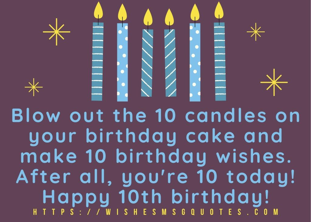 10th Birthday Messages From Aunt To Boy