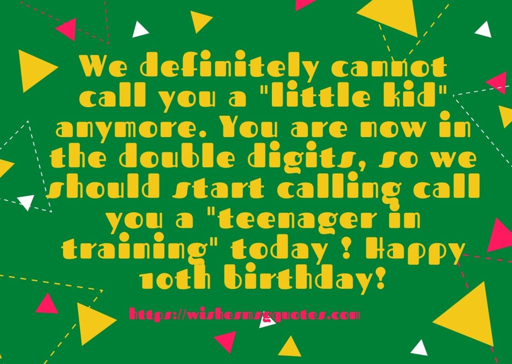 10th Birthday Messages From Classfellow To Boy