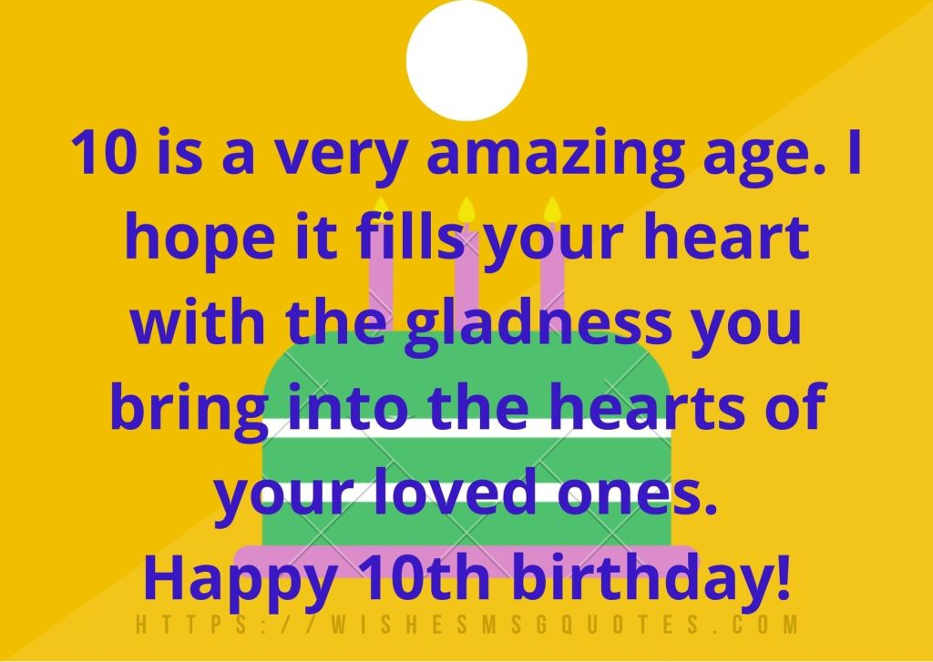 10th Birthday Messages For 10 Year Boy