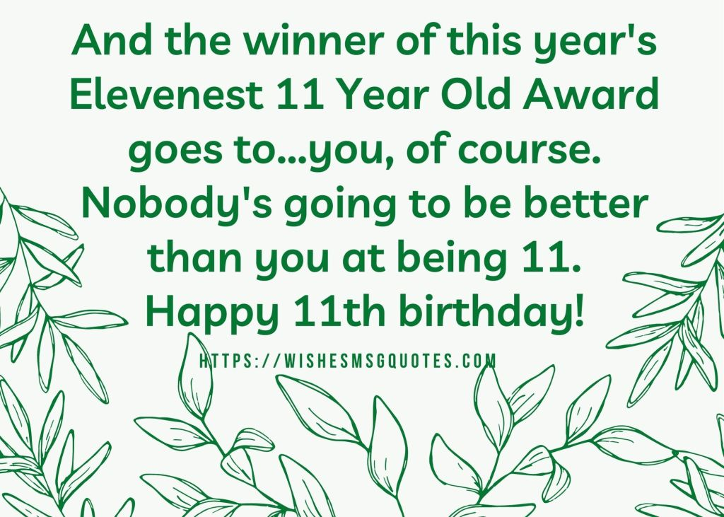 Happy 11th Birthday Messages For Grandson/Granddaughter