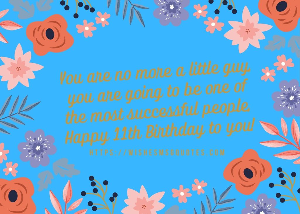 Happy 11th Birthday Messages From Parents