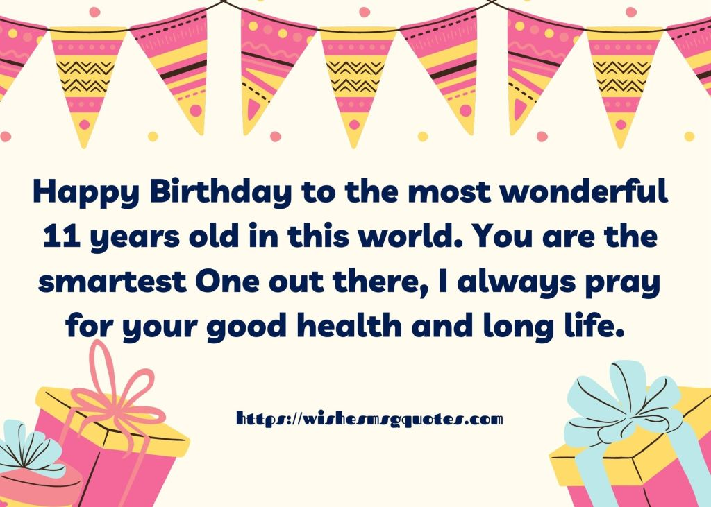 Cutest 11th Birthday Messages For Boy/Girl From Mother