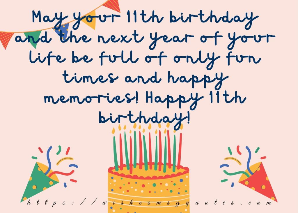 11th Birthday Quotes From Aunt To Boy/Girl