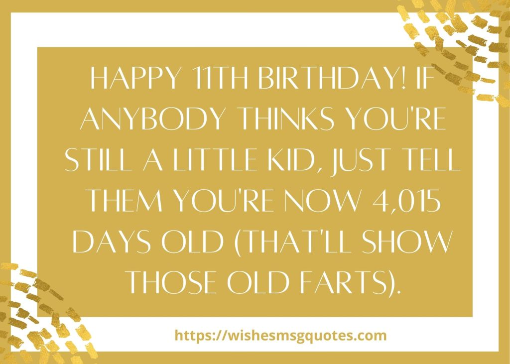 11th Birthday Quotes From Cousin To Boy/Girl