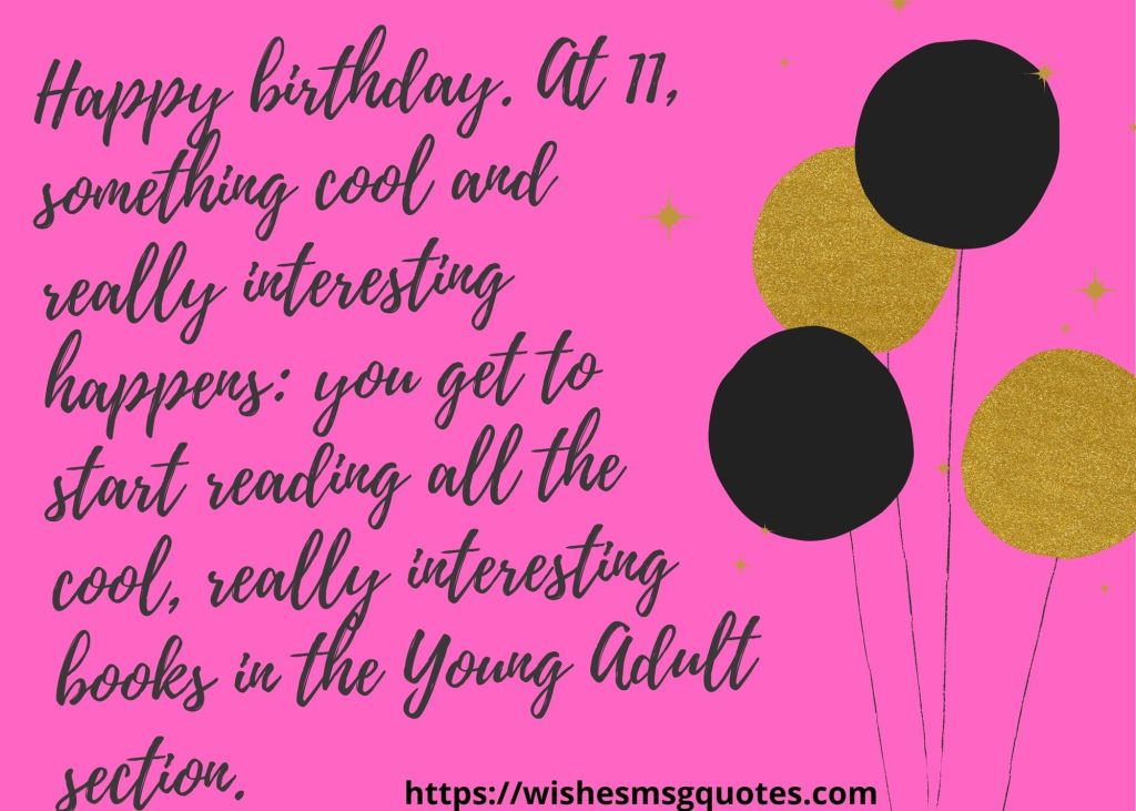 11th Birthday Wishes From Mother To Boy/Girl