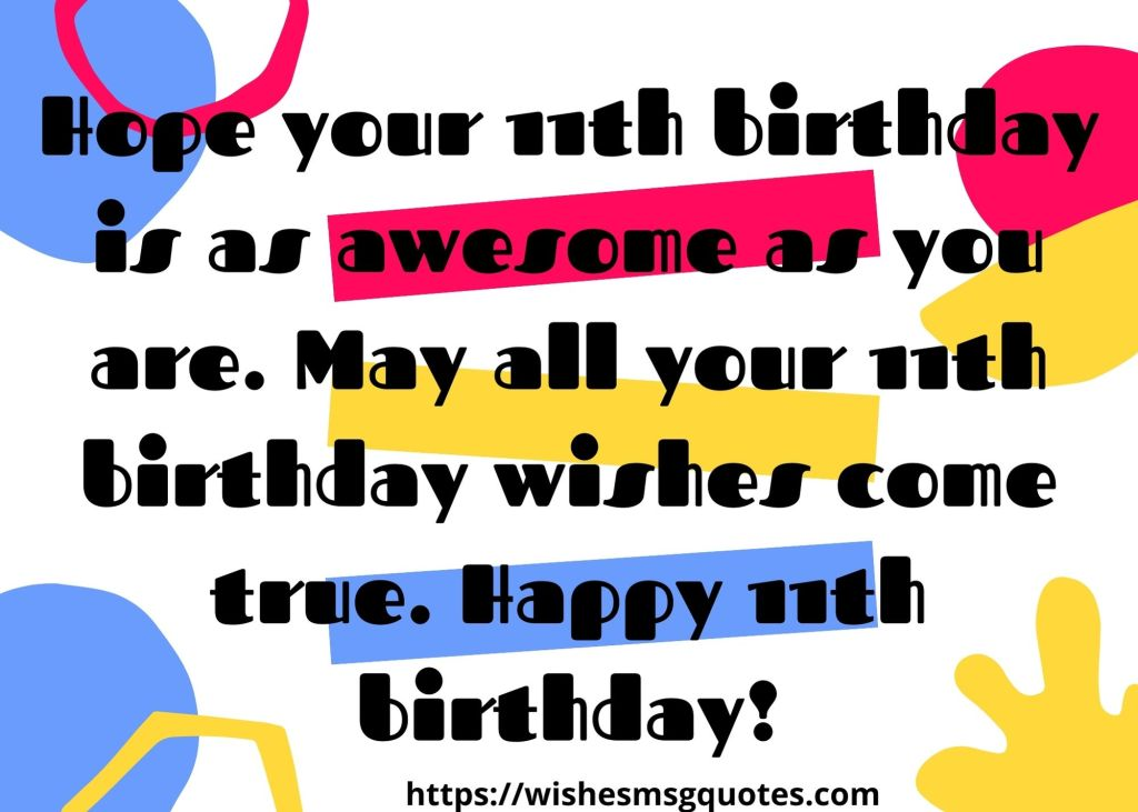 Happy 11th Birthday Quotes From Parents