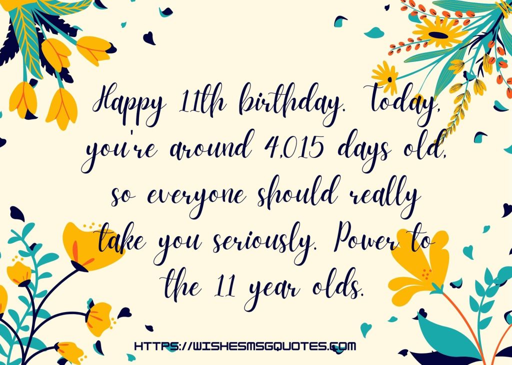 11th Birthday Messages For 10 Year Boy/Girl