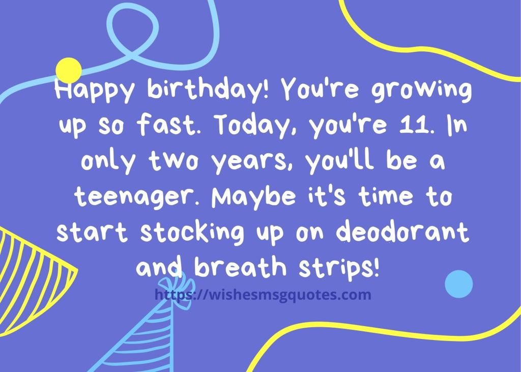 Happy 11th Birthday Wishes For Grandson/Granddaughter