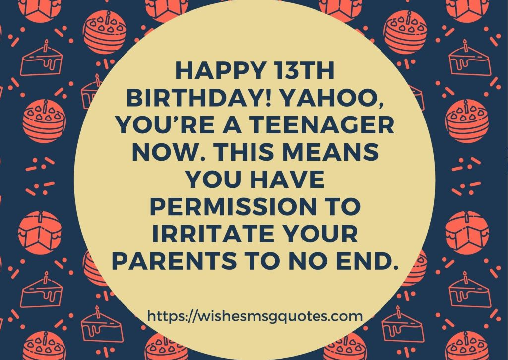 13th Birthday Wishes From Father To Boy Or Girl