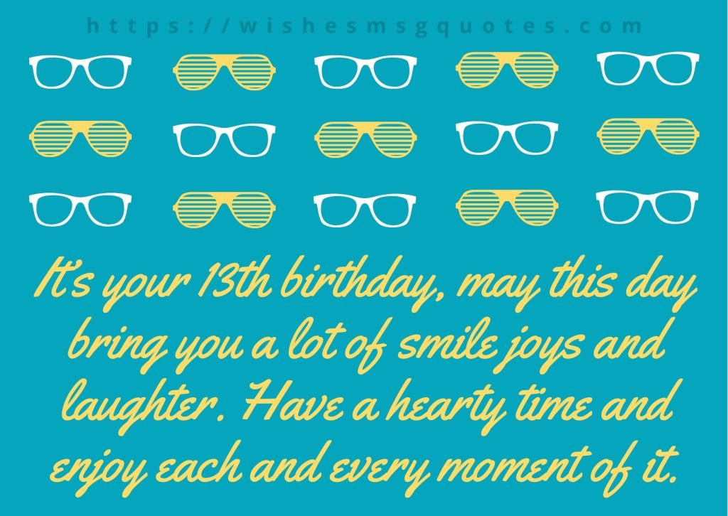 13th Birthday Wishes From Uncle To Boy Or Girl