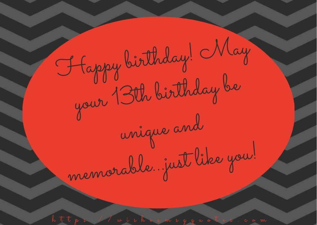 13th Birthday Quotes From Sister To Boy Or Girl