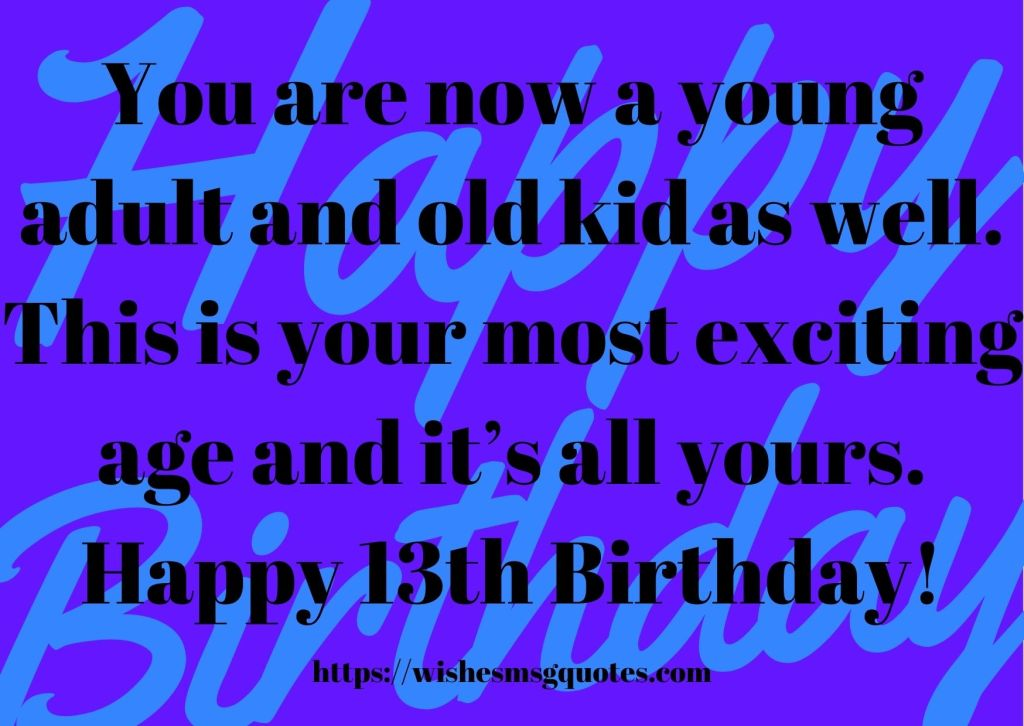 13th Birthday Quotes From Cousin To Boy Or Girl