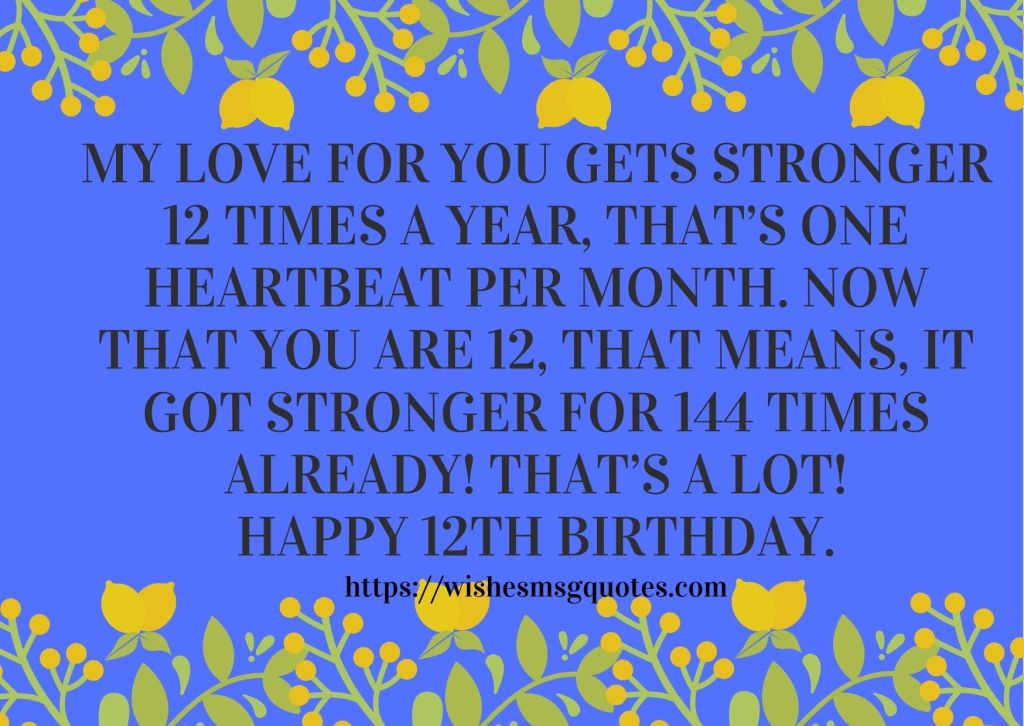 12th Birthday Wishes From Cousin To Boy Or Girl