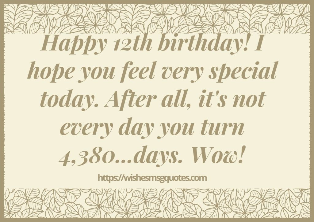 Happy 12th Birthday Quotes For Boy