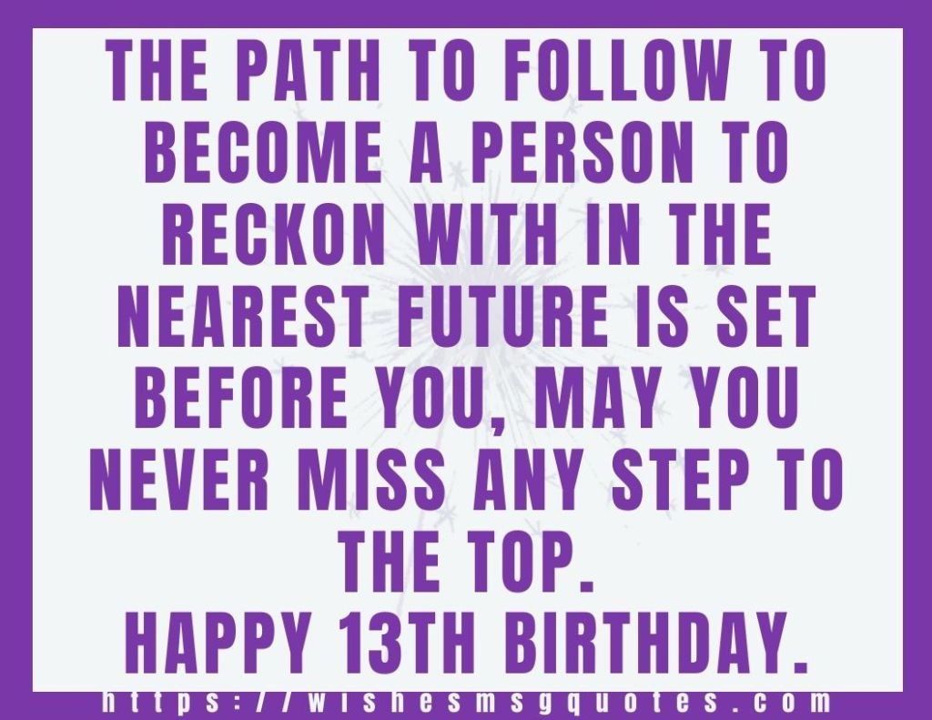 13th Birthday Quotes From Grandmother To Boy Or Girl