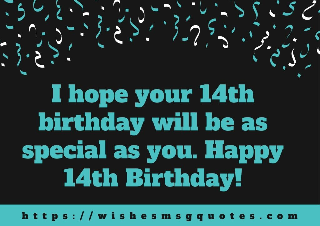 14th Birthday Messages From Classfellow To Boy Or Girl