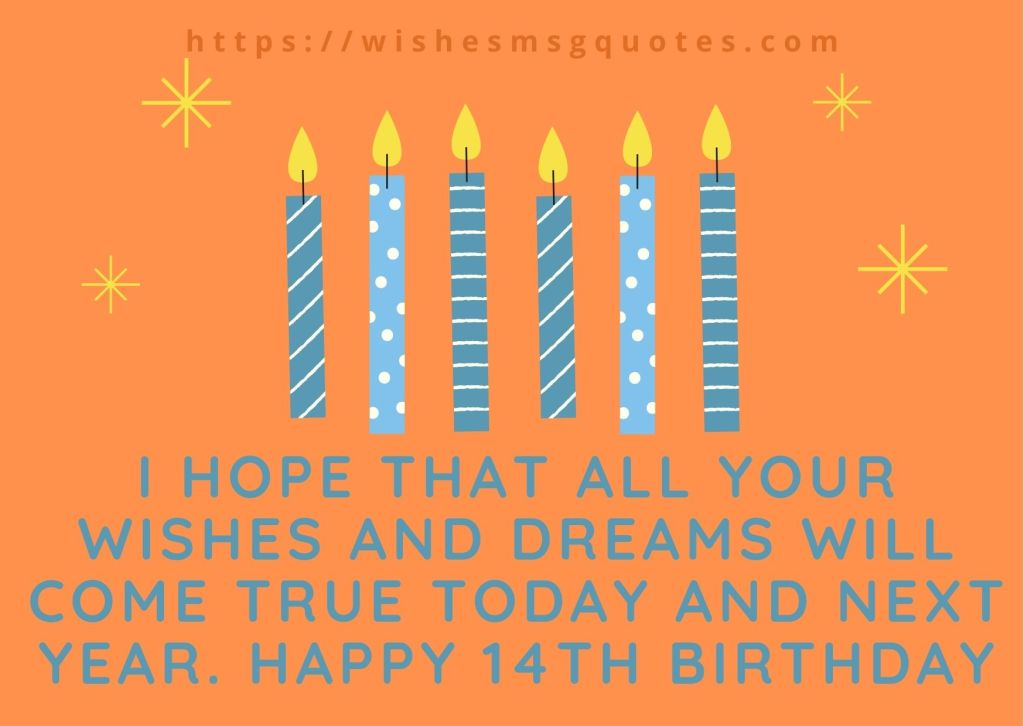 14th Birthday Wishes From Uncle To Boy Or Girl